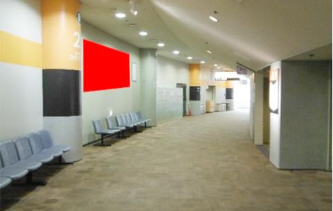 大阪ドーム通路壁面を利用したシート広告